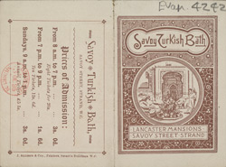Advert for the Savoy Turkish Baths 4242